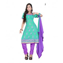 Solid Turquoise Chanderi Dressmaterial