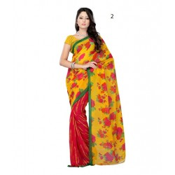 Printed Faux Georgette Saree