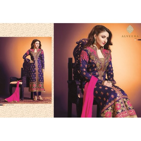 Blue Emborided Salwar Kameez